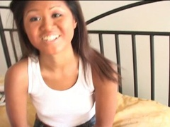 Hot excited asian babe loves showing her wonderful body