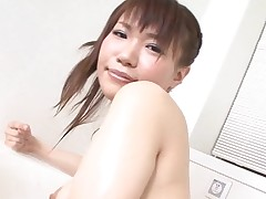 Pal licks, fingers and copulates hairy vagina of girlie from Asia